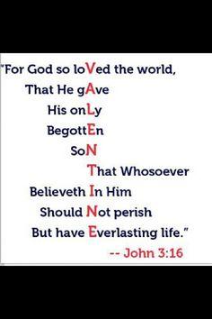 God's love will always be true.