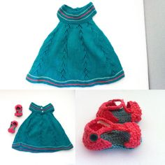 Vestido y zapatitos bebé