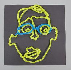 North Art Alert: Fourth Grade Self-Portraits 3 Ways
