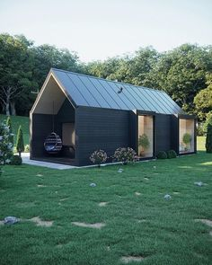 Modern wood house in forest Tiny House Cabin, Tiny House Design, Cabin Design, Modern Wood House, Casas Containers, Shed Homes, House In The Woods, Future House, Building A House