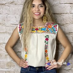 Mexican Top, Mexican Blouse, Silk Thread, Cotton Thread, Mexican Fashion, Gold Embroidery, San Antonio, Color Patterns, Shawl