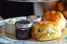 Thick creamy buttery scones soon to be slathered generously with strawberry jam and the incredibly rich and buttery lightly sweetened Empress cream Fairmont Empress, Finger Sandwiches, Strawberry Jam, Yummy Snacks, High Tea, Scones, Restaurants, Tasty, Victoria