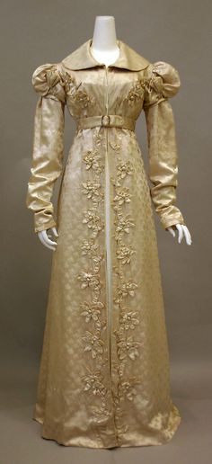Redingote 1818-1820, French, Made of silk