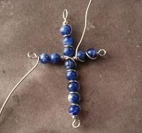 Cross Pendant Tutorials- From Wire Work to Beaded Tatting ~ The Beading Gem's Journal