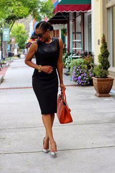 THE BLACK LIST BY AWED BY MONICA http://awedbymonica.blogspot.com/2014/09/LBD.html #BLACKDRESS #prada #orangebag #blacksunglasses #snakeskinshoes #fashionblogger #bloggerstyle #mididress #bananarepublic @bananarepublic
