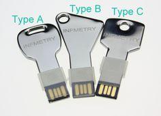 INFMETRY:: Key Shaped USB Flash Drive with Your Custom Logo/Name - USB Flash Drives - Electronics