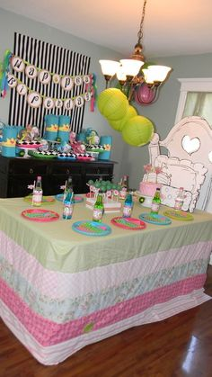 Princess and the Pea Birthday Party bed table!  See more party ideas at CatchMyParty.com!