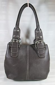 TIGNANELLO-MEDIUM-BROWN-PEBBLED-LEATHER-SATCHEL-BAG-VERY-GOOD-COND-FREE-SHIPPING