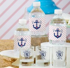 Personalized Party Favors Water Bottle Labels, Personalized Shot Glasses #personalizedpartyfavors