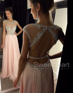 Unique long prom dress 2016, sequin long pink prom dress for teens, elegant long…