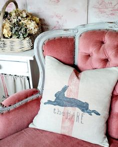 Using the IOD decor stamp borders look amazing on this pillow! ・・・ Gray and rainy weather suits creative work. So, today I've made a trendy hare cushion. Have a lovely weekend 😘 Baby Robin, Bed Pillows, Cushions, Iron Orchid Designs, Have A Lovely Weekend, Prima Marketing, Learn To Fly, Rainy Weather, Pillow Talk