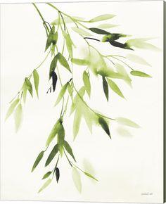 Bamboo Leaves Iv Green By Danhui Nai Canvas Art - Multi
