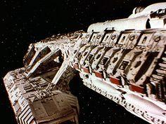 From the Battlestar Galactica archives Kampfstern Galactica, Stargate Ships, After Earth, Battlestar Galactica 1978, Pintura Exterior, Sci Fi Tv Shows, Sci Fi Models, Sci Fi Ships, Star Trek Ships