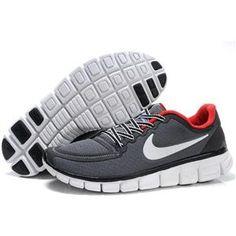 Womens Nike Free 5.0 V4 Light Grey Red Men Shoes