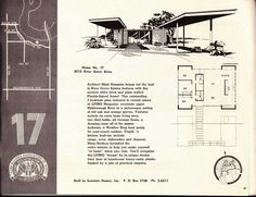 Image result for mid century modern vacation home floor plans