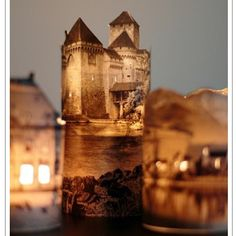 Make a little paper town at night: All you need is an image of a building and a battery operated light! #crafts #kids #homedecor #light #creative #art #family #decoration #ideas via http://pin.it/aG8_ADT