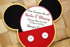 Mickey mouse invitación