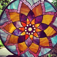glass mosaic mandalas - BRAINSTORMING for my mandala garden pot 2014