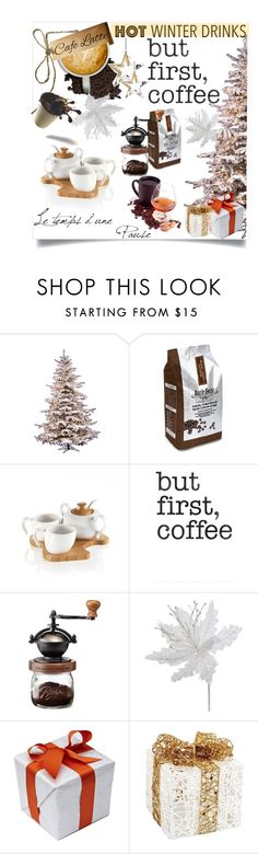 """""""Hot Coffee"""" by clotheshawg ❤ liked on Polyvore featuring interior, interiors, interior design, home, home decor, interior decorating, Brandani, Retrò, Melrose International and hotwinterdrinks"""