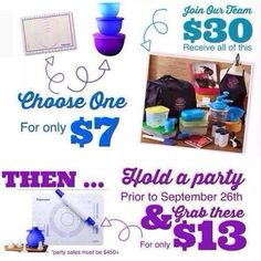 Ask me about Tupperware wilhelm.b@hotmail.com... Join my team or fill your kitchen with great products