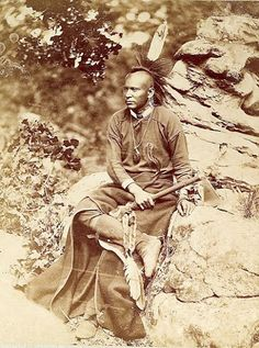 Native American Encyclopedia Osage man – 1875