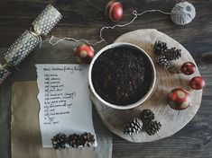 how to make a Christmas pudding - a family recipe for Christmas Pudding. Packed with raisins, currants and sultanas with a slosh of Guinness! A wonderful, beautifully scented pudding. Serve with custard, brandy butter or cream. Christmas Pudding, Christmas Baking, Dinner Rolls, Guinness, Custard, Raisin, No Bake Cake, Family Meals, Easy Meals