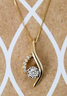 Diamond Pendant in Yellow Gold The Percent Event ends today! Shop now, and save an extra on select clearance and pre-owned styles, like this elegant necklace. Diamond Pendant Necklace, Gold Pendant, Diamond Jewelry, Diamond Necklaces, Gold Jewelry, Diamond Stud, Pendant Set, Cross Pendant, Diamond Rings