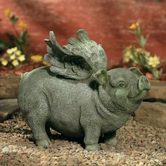 Flying Pig Garden Statue - OrientalTrading.com/could totally spray paint