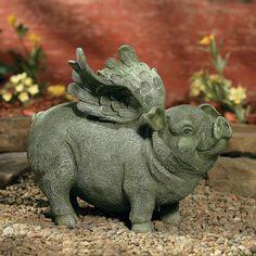 Flying Pig Garden Statue - OrientalTrading.com