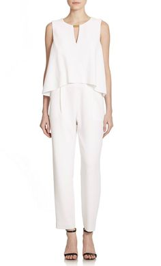 Ditch your jumpsuit phobia with our 7 picks: Trina Turk. All Fashion, Passion For Fashion, Clothes For Larger Ladies, Sexy Outfits, Fashion Outfits, One Piece Dress, 3 Piece, Pants For Women, Clothes For Women