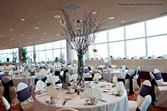 Check out this set up for a wedding here at Monona Terrace!  Monona Terrace Community and Convention Center - Madison, WI