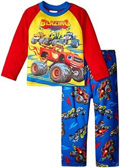 5478aaf5a2911 Nickelodeon Boys Blaze and The Monster Machines 2-piece Pajama Set Toddler  Meals