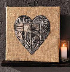 Creaclic.ch - Fiche créative Coeur en métal repoussé