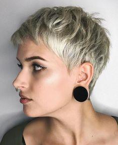 Short Shaggy Blonde Pixie Very Short Pixie Cuts, Short Blonde Pixie, Best Pixie Cuts, Short Pixie Haircuts, Pixie Hairstyles, Short Hairstyles For Women, Short Hair Cuts, Short Hair Styles, Sassy Haircuts
