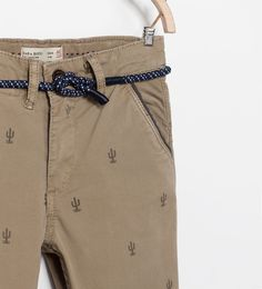 CACTUS PRINT STRETCH CHINOS-Trousers-Boy-COLLECTION SS15 | ZARA United States