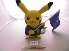 Pokemon Japan national football team Pikachu 피카츄 Plush Doll bag With gifts #TakaraTomy