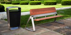 Benches, Chairs, Litter Receptacles, Ash Urns, Tables, Umbrellas - Site Furniture - Landscape Forms
