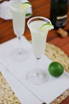 Champagne Margaritas... Shut...Your... Mouth! How have I not tried this yet..??