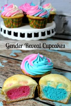 Gender Reveal Cupcak
