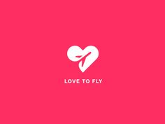 love logo Love to fly logo concept by Popa Ion Branding And Packaging, Logo Branding, Branding Design, Logo Word, Letter Logo, Ideas Para Logos, Web Design Mobile, Logo Minimalista, Typographie Logo