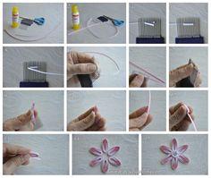 Quilling tarak çalışmaları- combed flower