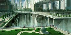 Futuristic city 2 by *JoakimOlofsson on deviantART