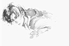 art Black and White anime monochrome levi snk shingeki no kyojin AOT attack on titan rivaille levi heichou levi ackerman Rivaille Ackerman