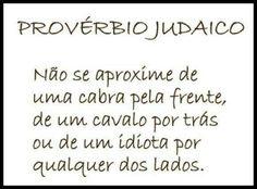 Provérbio judaico - Não se aproxime
