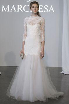 Robe de mariée Le défilé Bridal Marchesa de la collection printemps-été 2015