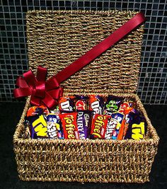 Chocolate gift hamper basket