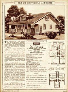 The Vallonia house plans Sears Roebuck Co; love the windows
