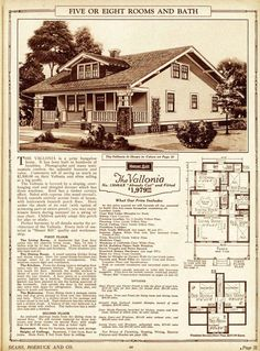 The Vallonia house plans Sears Roebuck Co