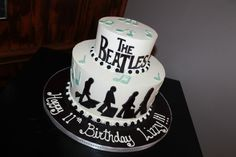 Tiered Beatles cake