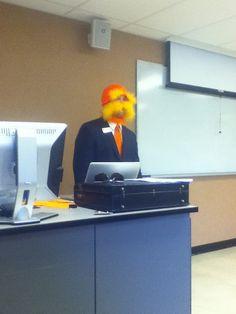 Professor Lorax great for elementary school teachers! Halloween ideas for teachers